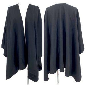 Vintage Harve Benard Black Wool Blend Cape